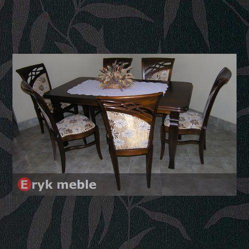 Stół drewniany ANDRZEJ 1 + krzesła drewniane DIAMENT.M