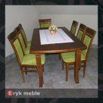 Stół drewniany CLOZE 1 + krzesła drewniane ERYK