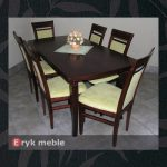Stół drewniany CLOZE 2 + krzesło drewniane HAKE ścinany