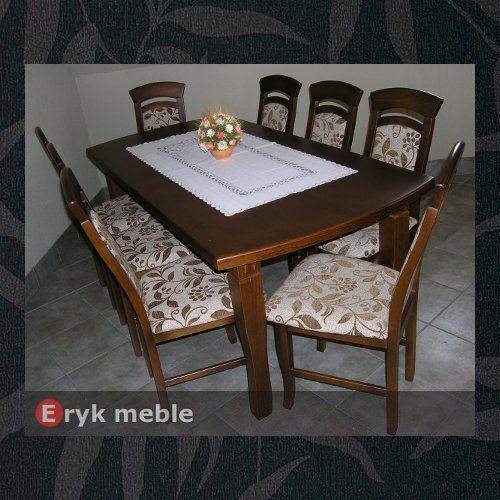 Stół drewniany CLOZE 3 + krzesła drewniane ELIPSA
