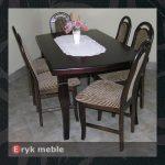 Stół drewniany CLOZE 4 + krzesła drewniane IRYS stary