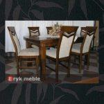 Stół drewniany CLOZE 7 + krzesła drewniane DIAMENT