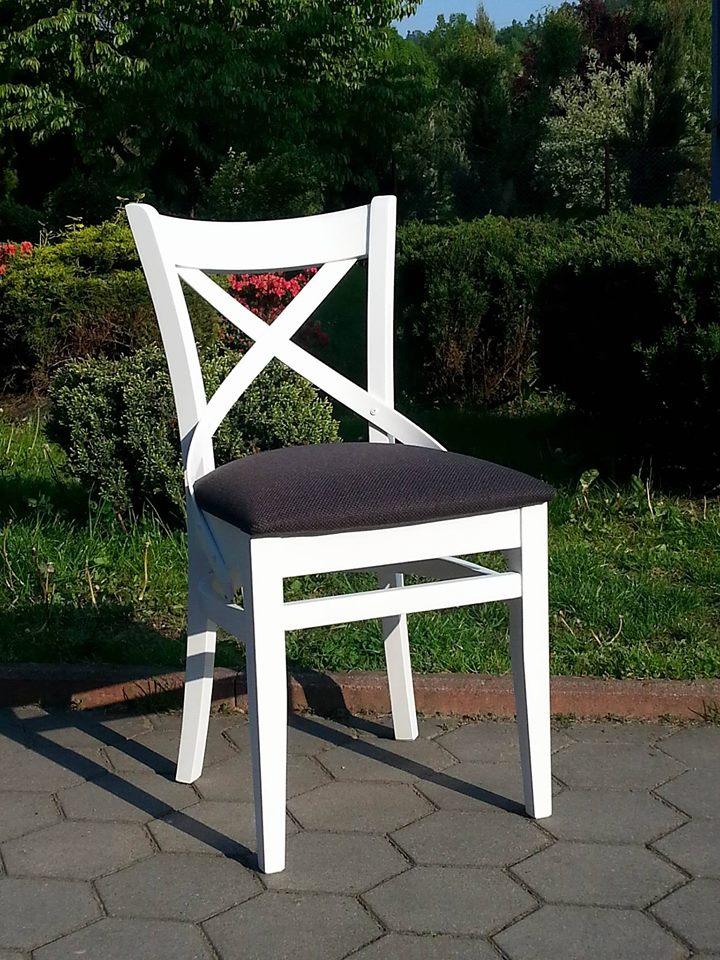 Krzesło drewniane X niski