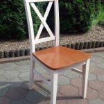 Krzesło drewniane X wysoki
