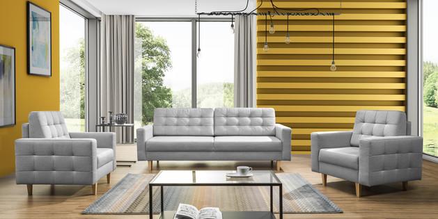 Zestaw wypoczynkowy MOON, wersalka + 2 fotele