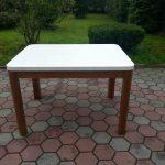 Stół drewniany KUCHENNY z zaokrąglonym blatem