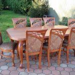 Stół drewniany LUDWIK + krzesła drewniane DIAMENT M.