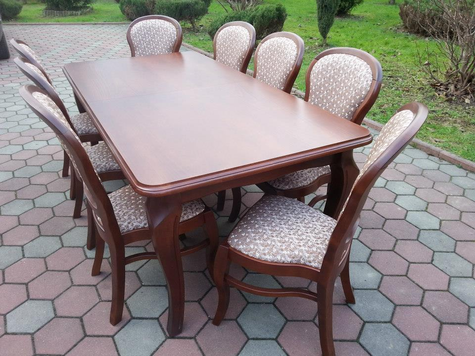 Stół drewniany ANDRZEJ + krzesła drewniane SMYK