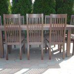 Stół drewniany STAŚ + krzesła drewniane HAKE szczeble