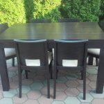 Stół drewniany + krzesła, komplet ANGLIK
