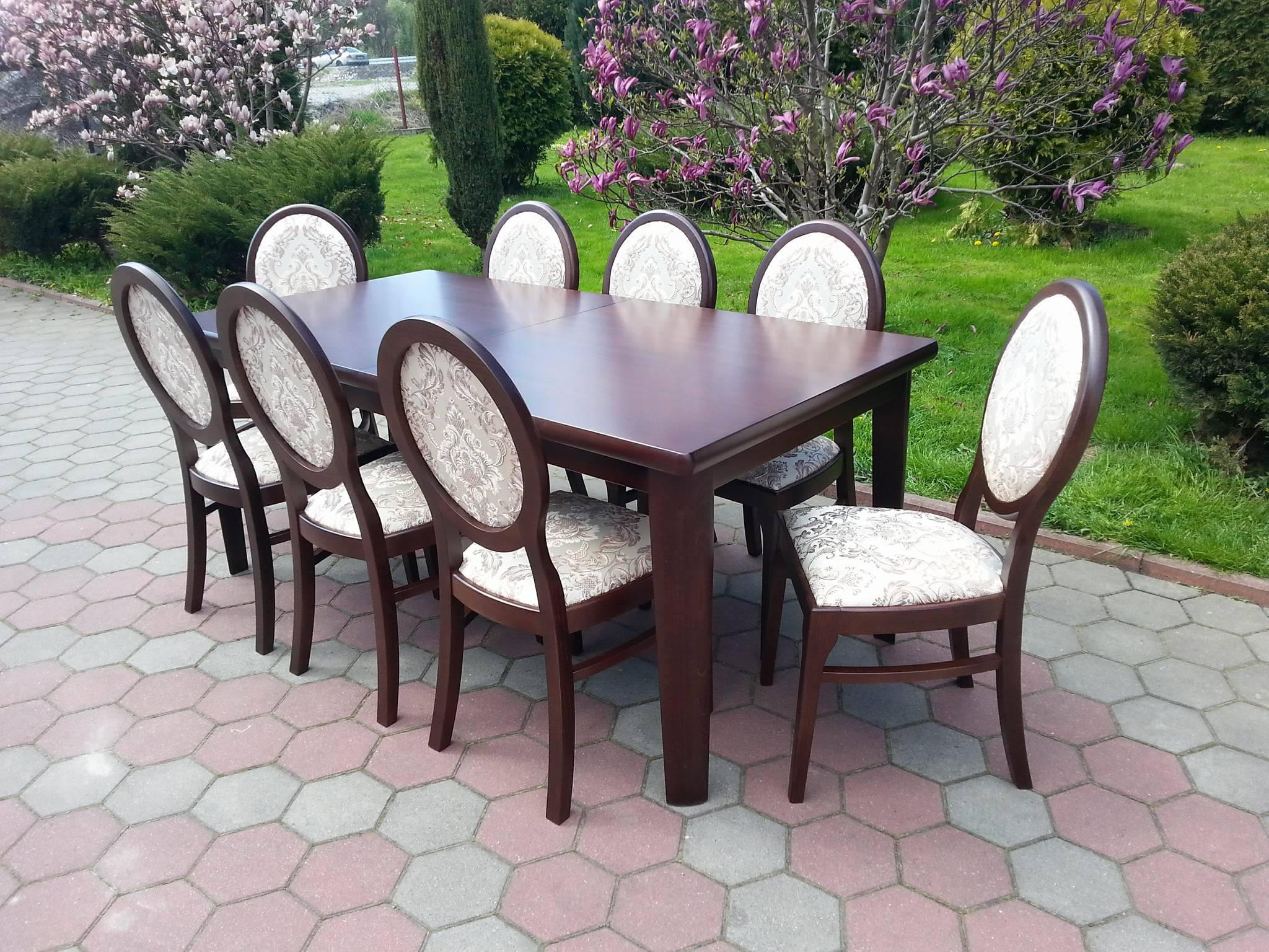Stół drewniany + krzesła, komplet OLEK