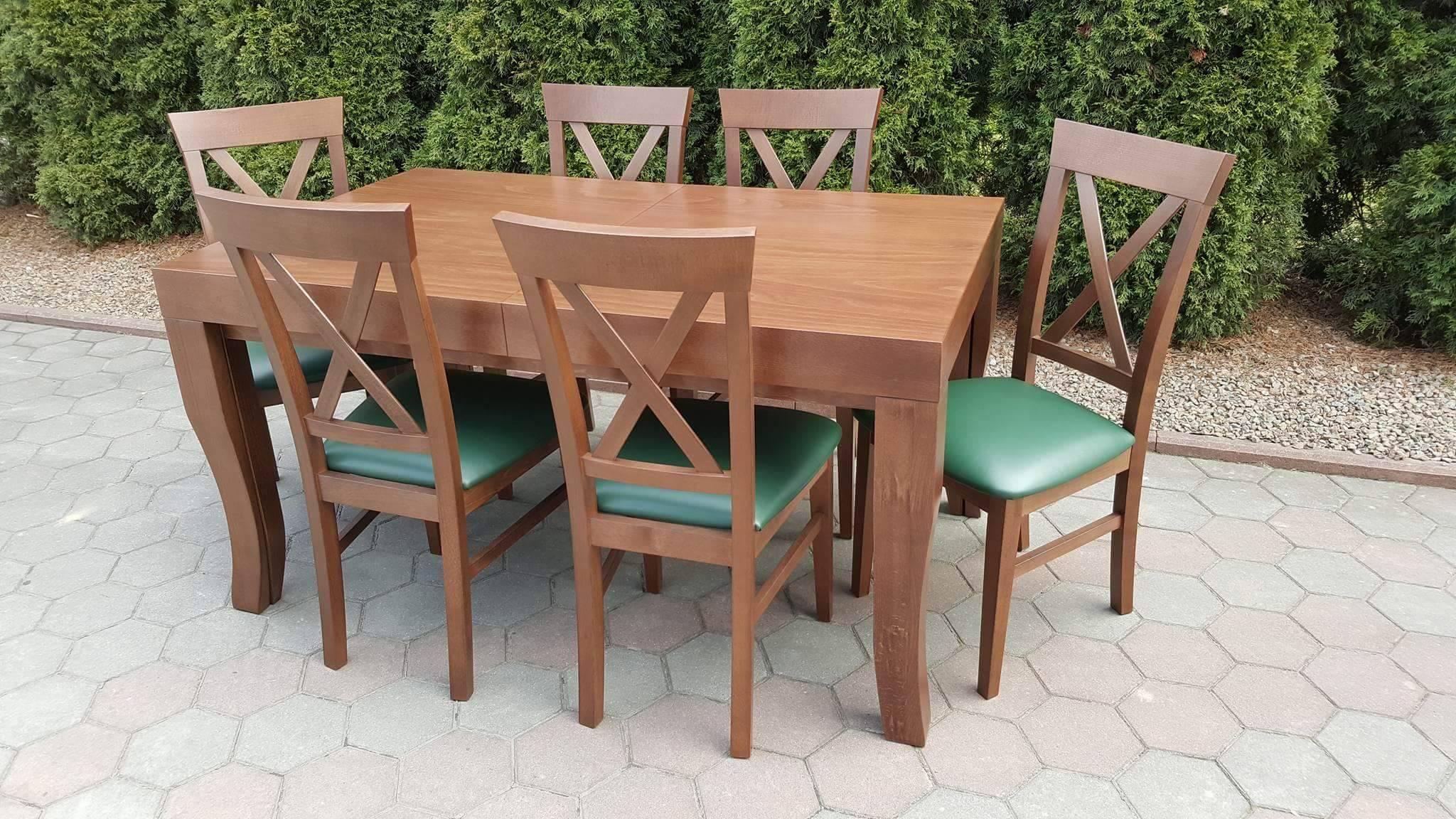 Stół drewniany + krzesła, komplet X