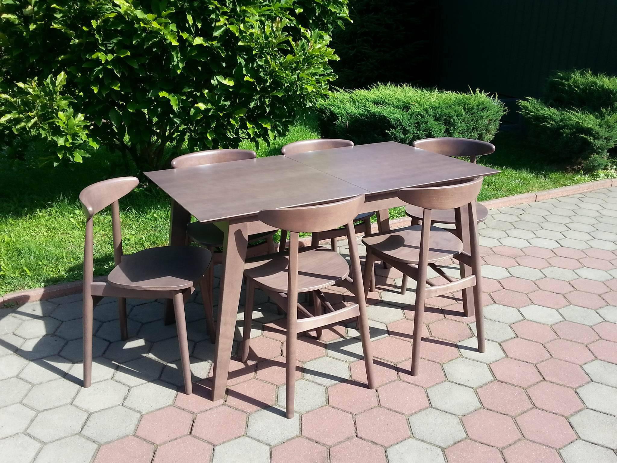 Stół drewniany + krzesła, komplet KIKI