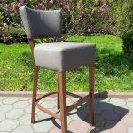 Krzesło drewniane tapicerowane BAROWE