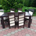 Stół drewniany GRZEŚ + krzesła drewniane PIOTREK