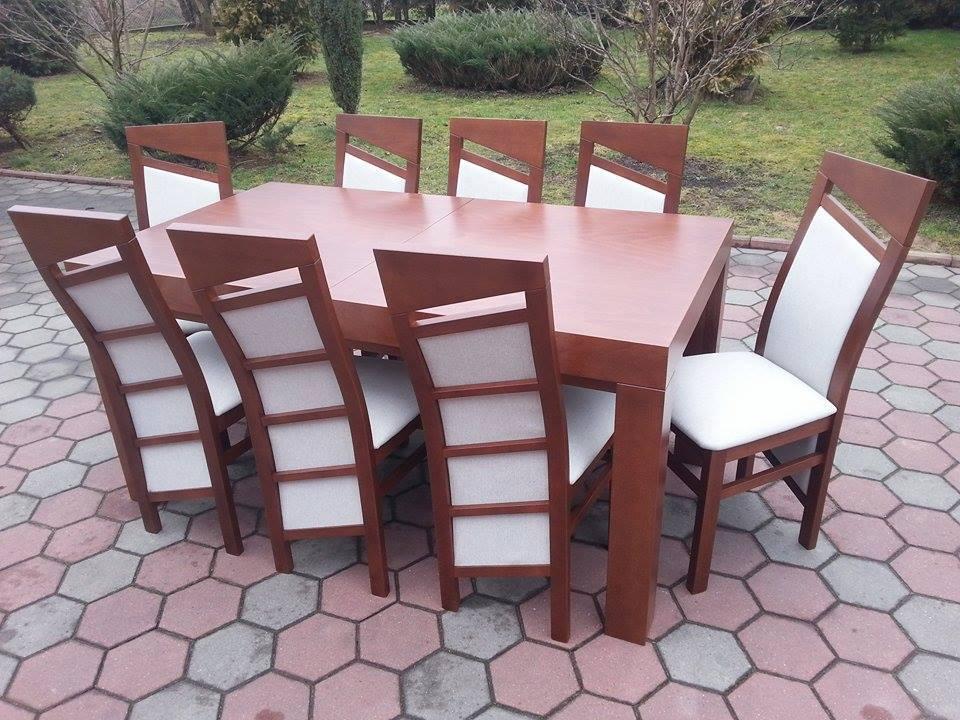 Stół drewniany WOJTEK + krzesła drewniane PIOTREK