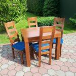 Stół drewniany WOJTEK + krzesła drewniane JACEK